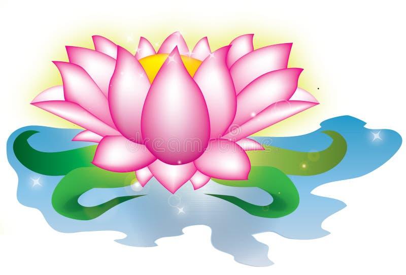 lotusblommamagi stock illustrationer