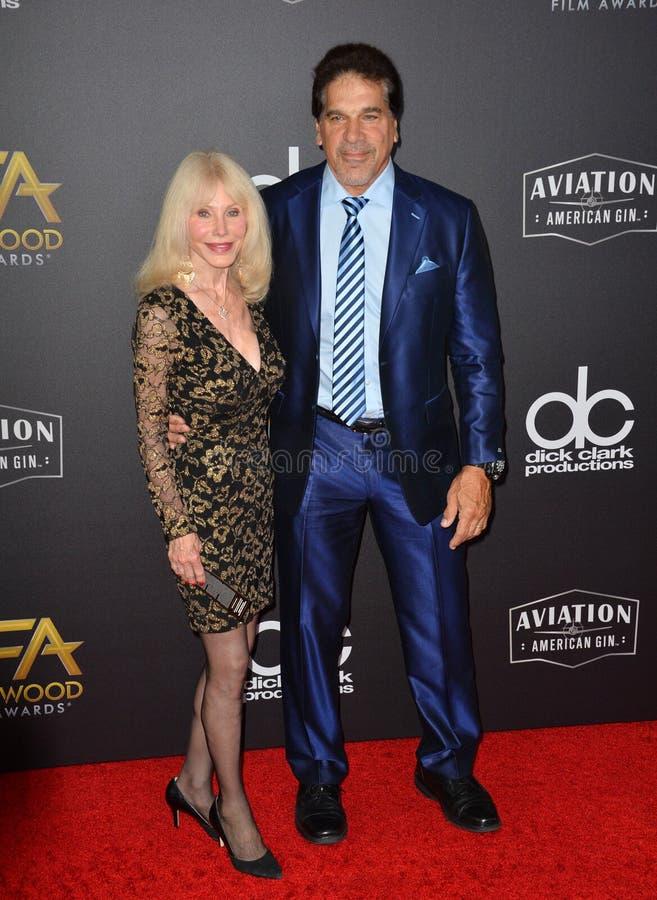 Lou Ferrigno y Carla Ferrigno foto de archivo libre de regalías