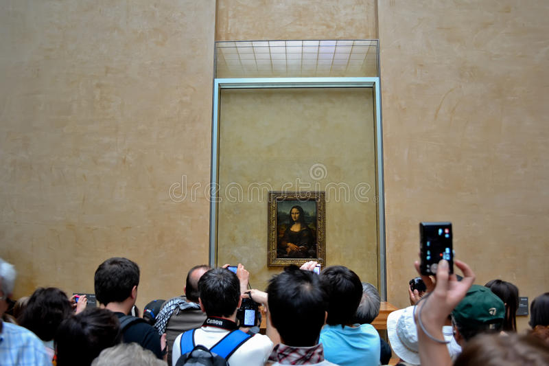 Louco para a Mona lisa foto de stock