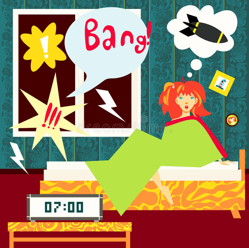 Download Loud stock illustration. Image of scare, insomnia, relaxation - 12816365