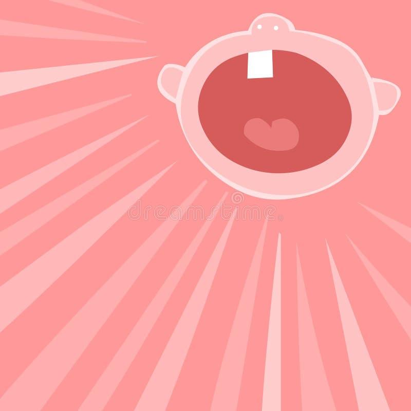 loud baby vector illustration