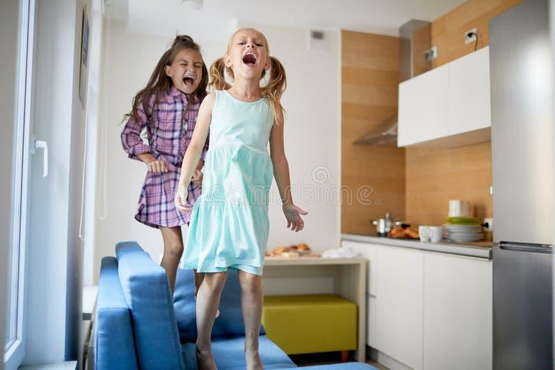 Loud girls royalty free stock image