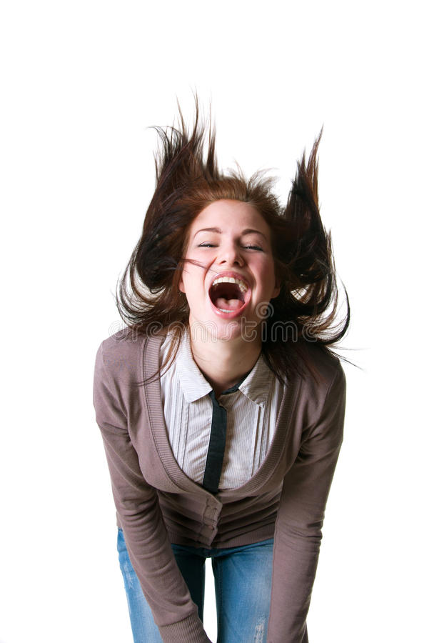 Download Loud happy shout stock photo. Image of camera, emotion - 30317110
