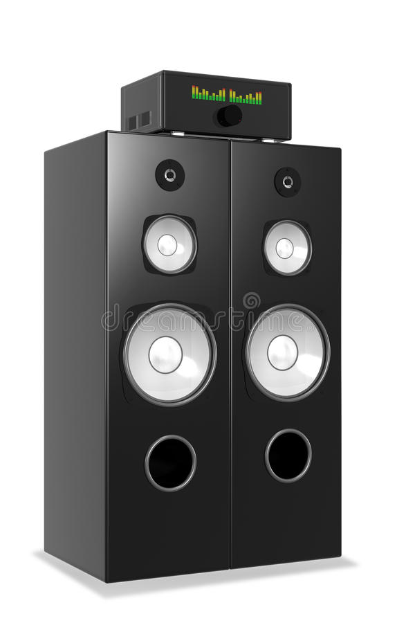 Download Loud Music From Big Audio System Stock Illustration - Image: 11948768