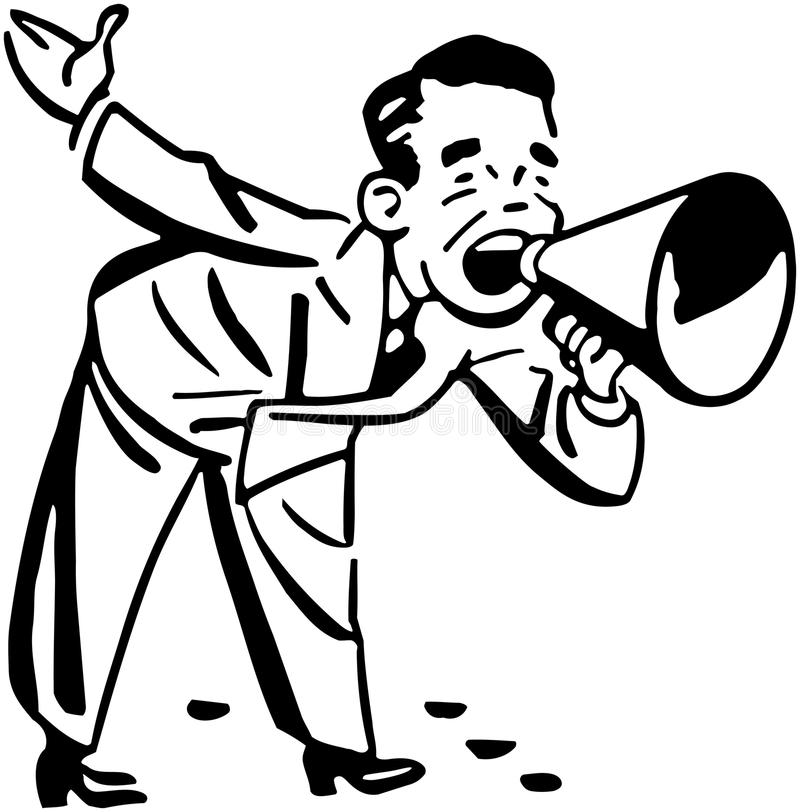 loudhailer stock de ilustración