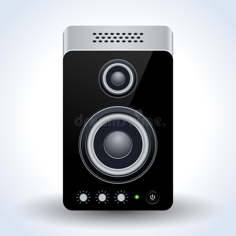 Loudspeaker realistic vector icon royalty free illustration