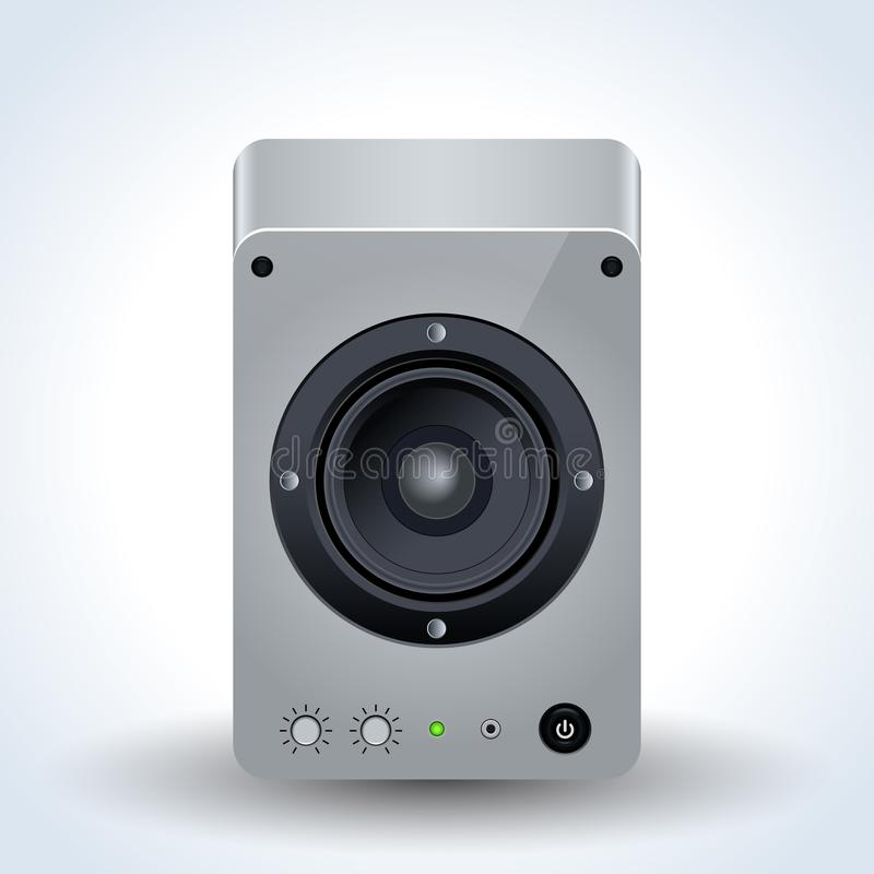 Loudspeaker realistic vector icon royalty free illustration