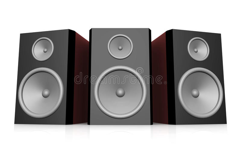 Download Loudspeakers Against A White Background Stock Illustration - Image: 83700850