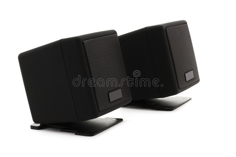 Loudspeakers (clipping Path) Stock Photos