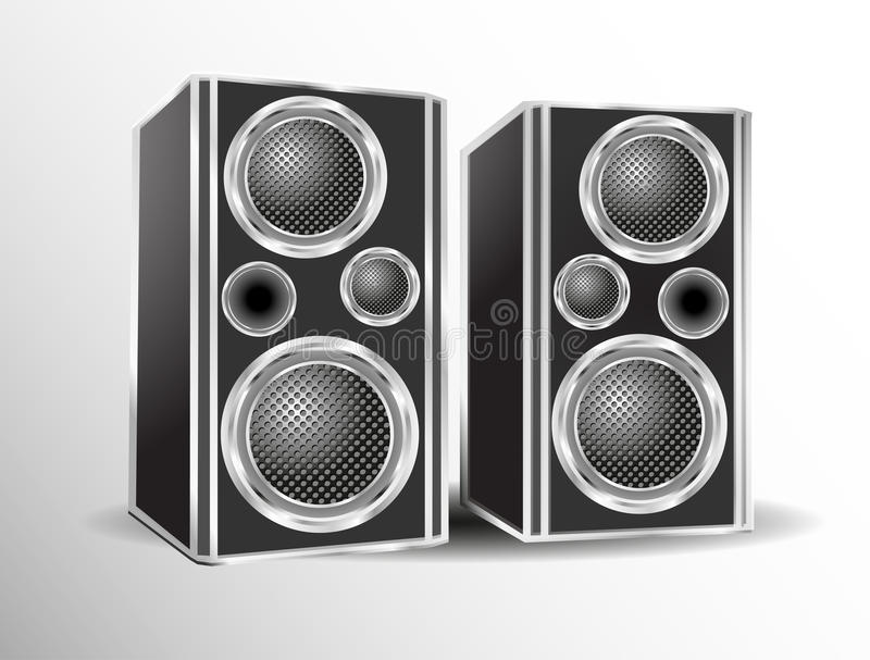 Download Loudspeakers stock illustration. Illustration of acoustic - 34855725