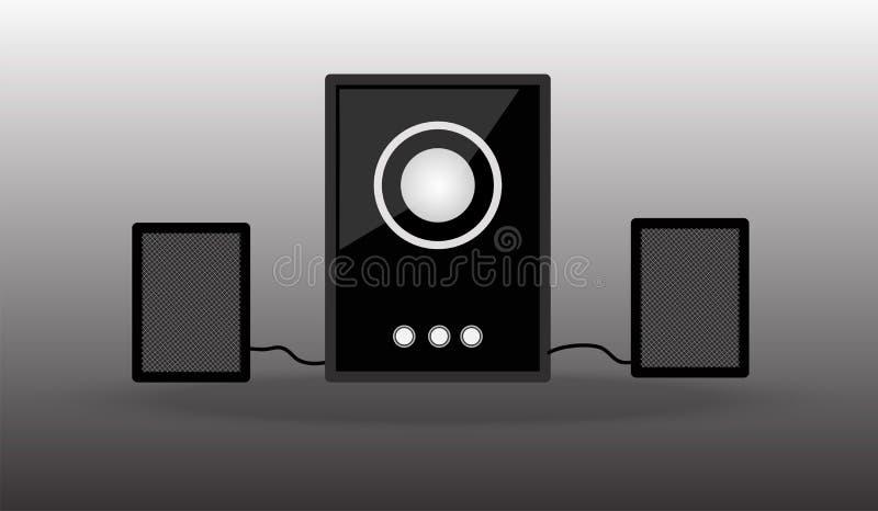 loudspeakers Som da música do dispositivo dos oradores dos multimédios ilustração do vetor