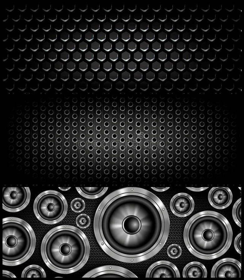 Loudspeker sztandar dla facebook wektorowego projekta ilustracji
