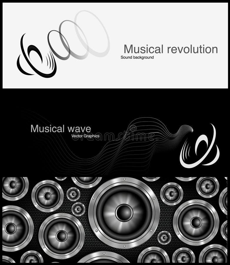 Loudspeker sztandar dla facebook wektorowego projekta royalty ilustracja