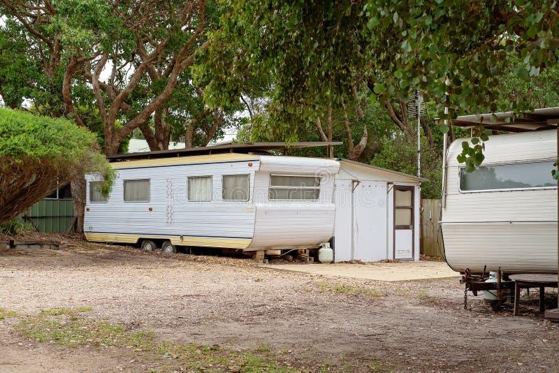 Louez le parc de caravane de Van In A images libres de droits