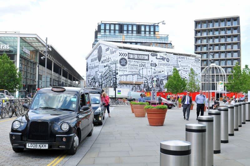 louez son taxi de Londres de lumière tourné photo libre de droits