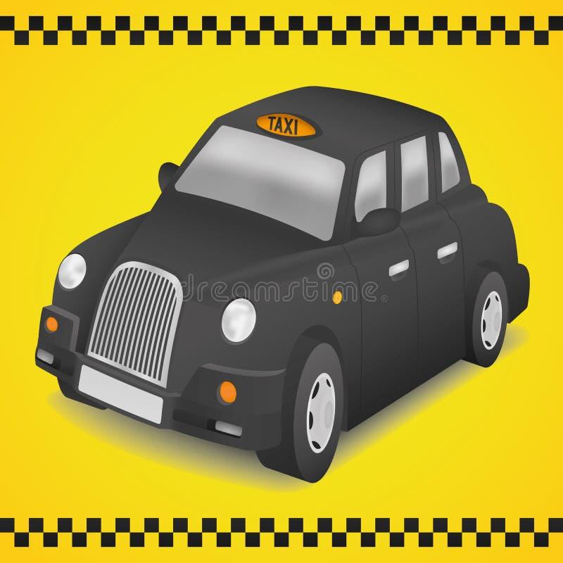 louez son taxi de Londres de lumière tourné image libre de droits