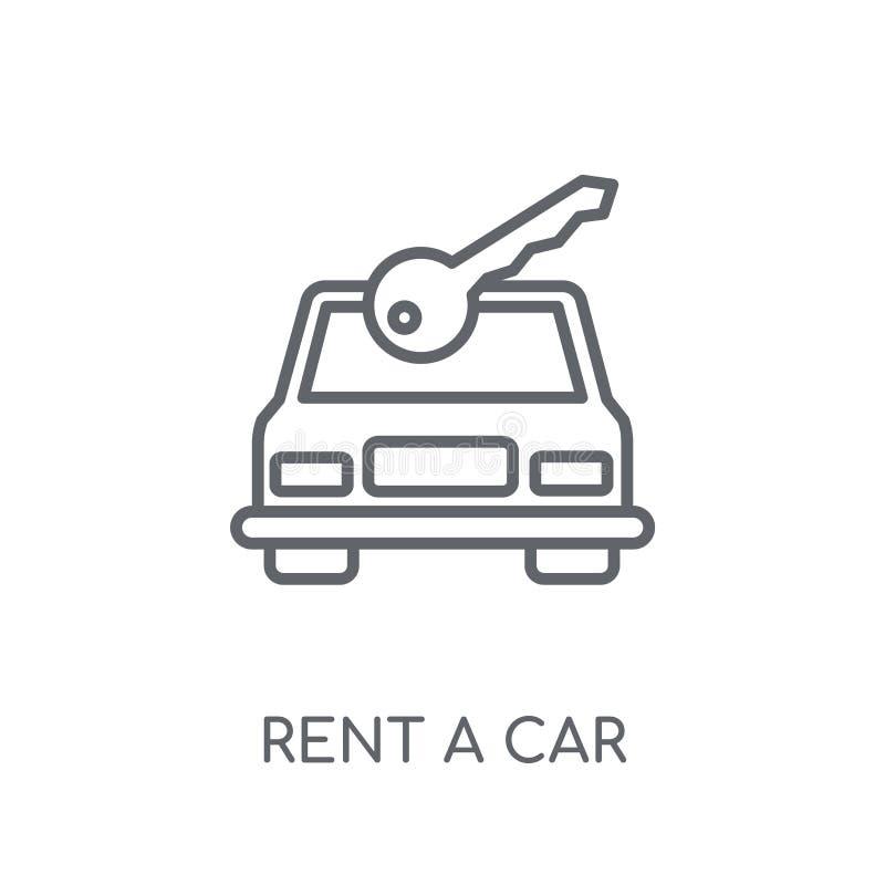 Louez une icône linéaire de voiture Loyer moderne d'ensemble un concept o de logo de voiture illustration de vecteur