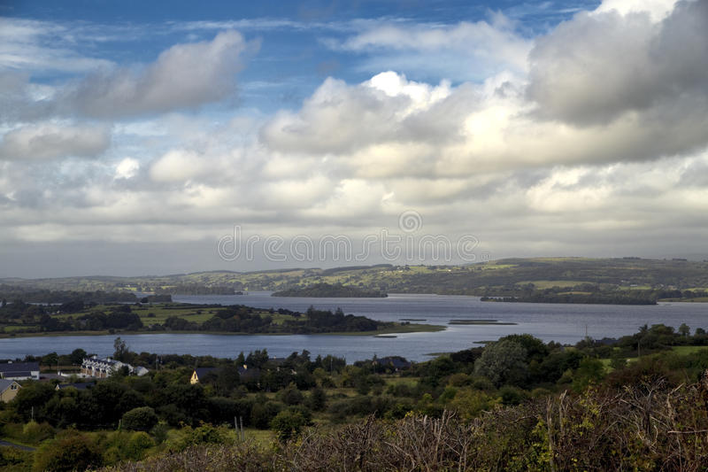 Lough Arrow, Co. Roscommon, Ireland. View over countryside and lake stock images