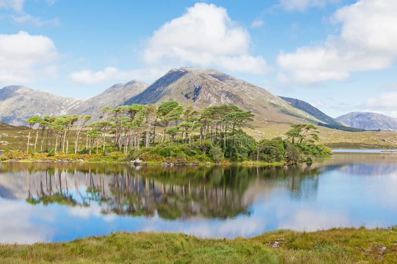 Lough di Derryclare in Irlanda fotografia stock
