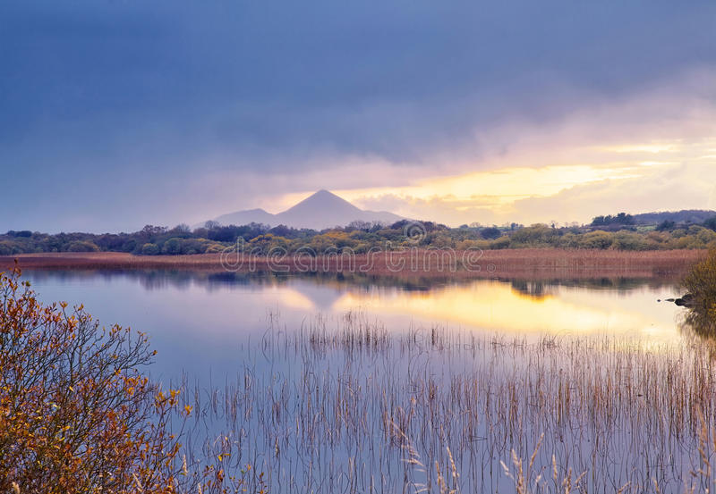 Download Lough Lannagh stock photo. Image of calm, landscape, grass - 64333064