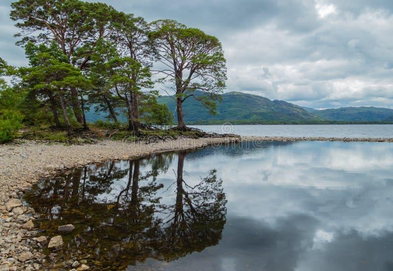 Lough Leane do parque nacional de Killarney da paisagem fotografia de stock