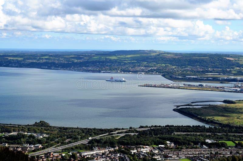 Lough van Belfast - Noord-Ierland stock afbeelding
