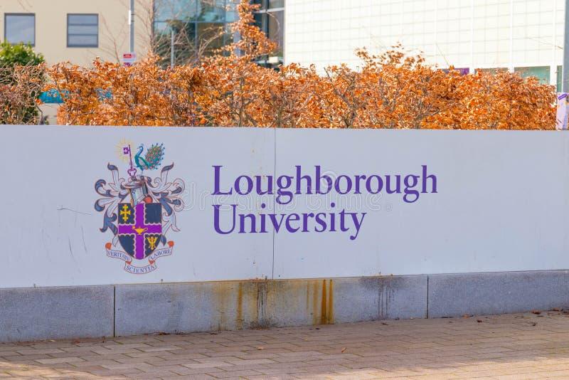 Loughborough/英国- 03 03 19:罗浮堡大学体育大厦校园英国 库存照片