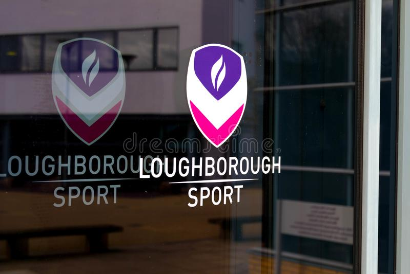 Loughborough/R-U - 03 03 19 : Campus Royaume-Uni de bâtiments de sport d'université de Loughborough images libres de droits