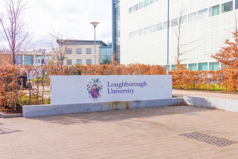 Loughborough/Regno Unito - 03 03 19: Città universitaria Regno Unito delle costruzioni di sport dell'università di Loughborough immagini stock libere da diritti