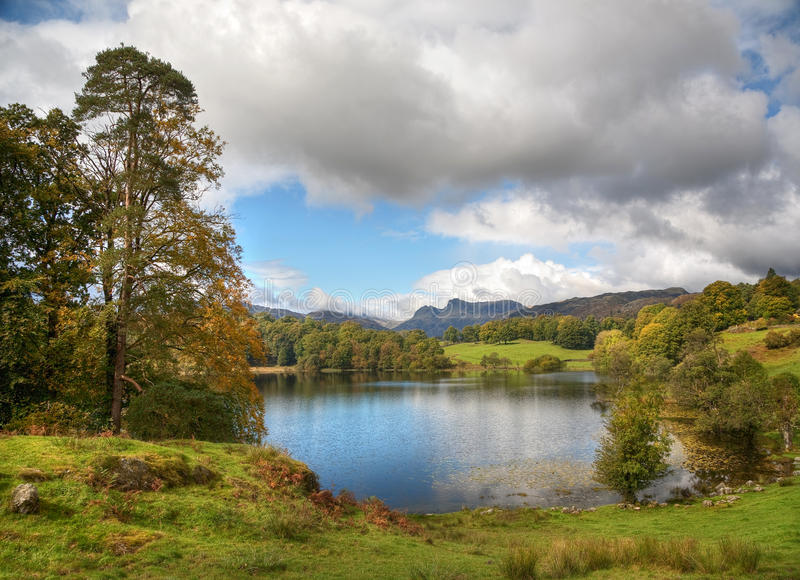 Loughrigg Tarn. In late Summer. The English Lake District stock photography