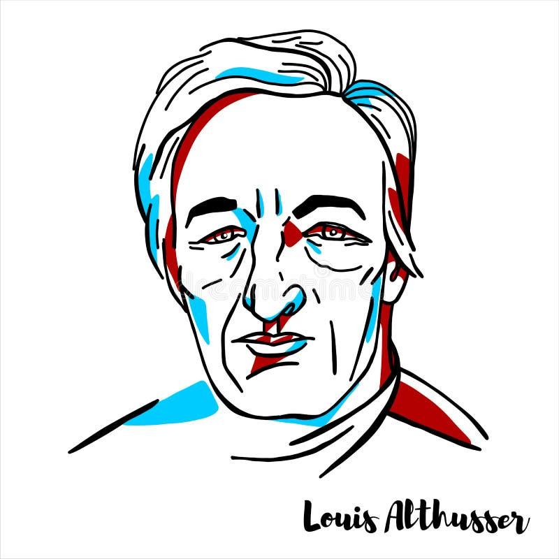 Louis Althusser Portrait illustration libre de droits