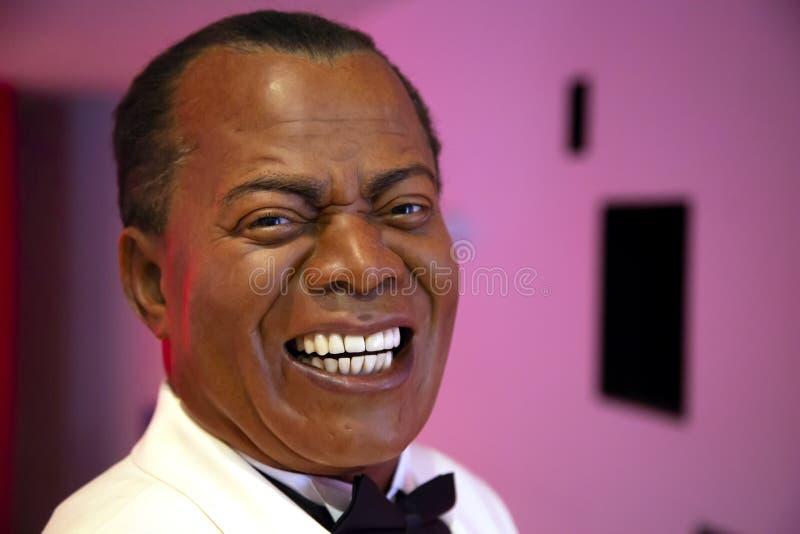 Louis Armstrong in Mevrouw Tussauds van New York royalty-vrije stock afbeelding