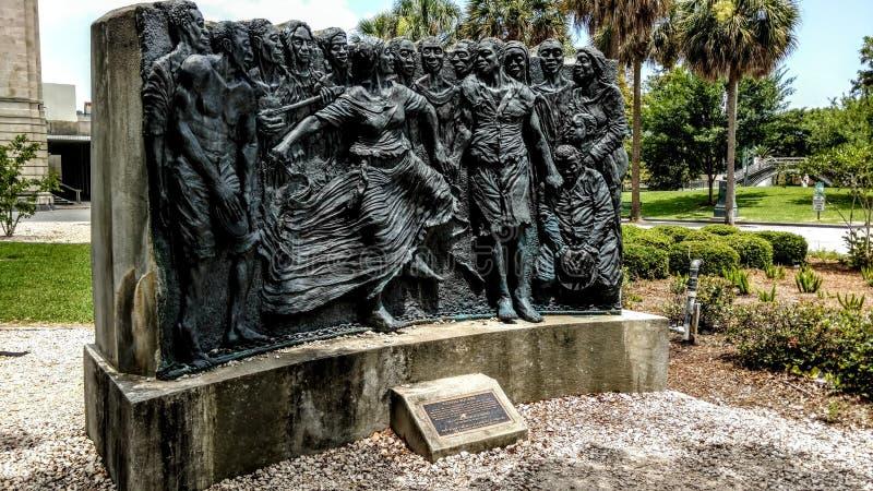 Louis Armstrong Park i New Orleans, Louisiana arkivbilder