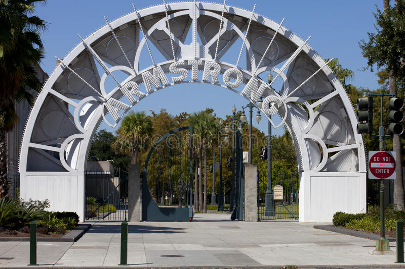 Louis Armstrong Park - New Orleans, Louisiana. royalty free stock images