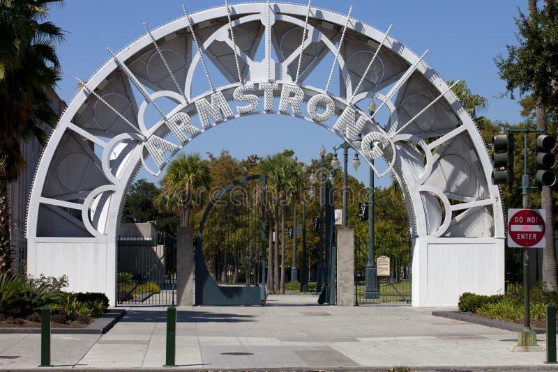 Louis Armstrong Park - New Orleans, Louisiane. royalty-vrije stock afbeeldingen
