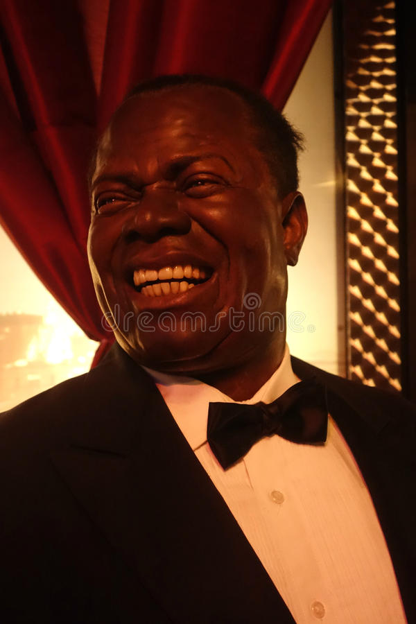 Louis Armstrong Wax Figure royalty-vrije stock foto's