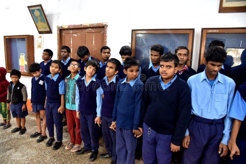 Louis Braille-Blind School In India stock foto