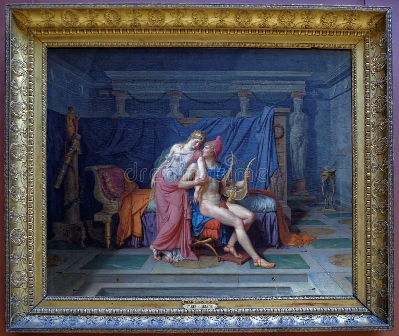 Louis David Förälskelserna av Paris och Helen 1788 luftventil arkivfoto