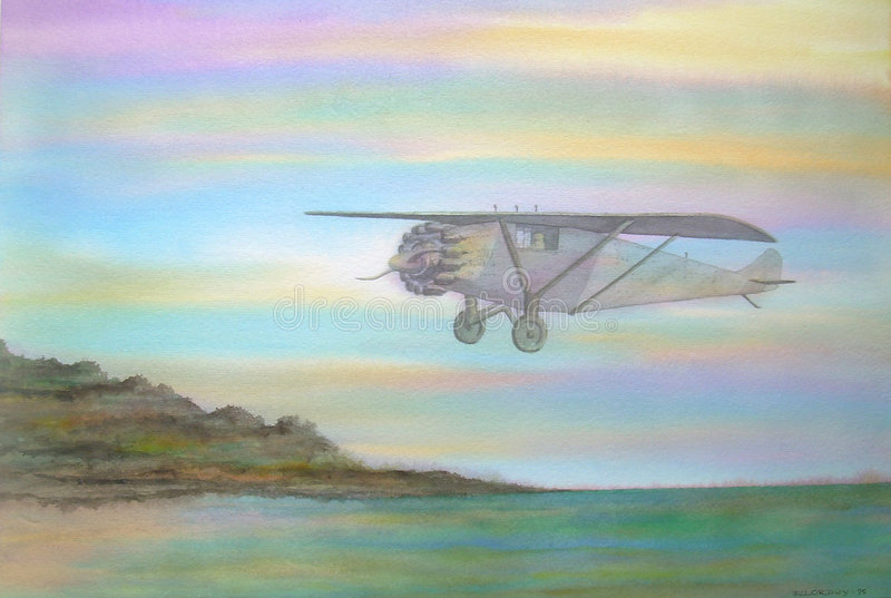 louis ducha świętego samolot ilustracja wektor