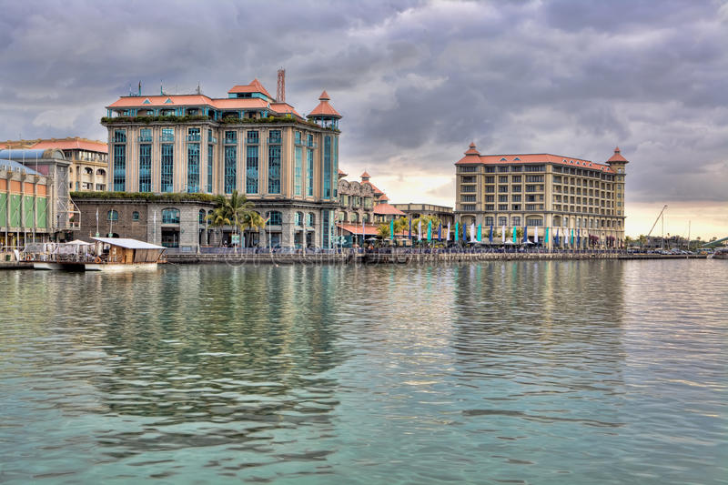 louis mauritius port royaltyfri fotografi