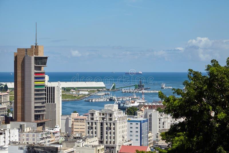 louis mauritius port arkivbild