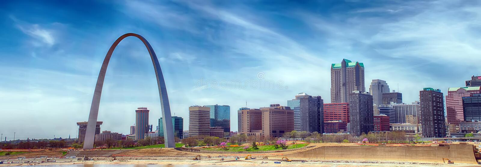Louis missouri downtown at daylight royalty free stock photography