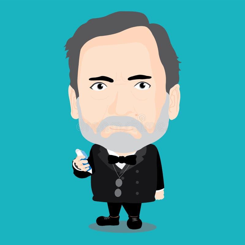 Louis Pasteur Character Stock Vector Illustration Of Cartoon 73723472