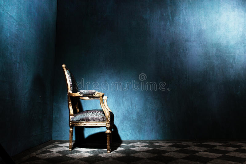 Download Louis Style Armchair In Blue Room Stock Image - Image: 24007565