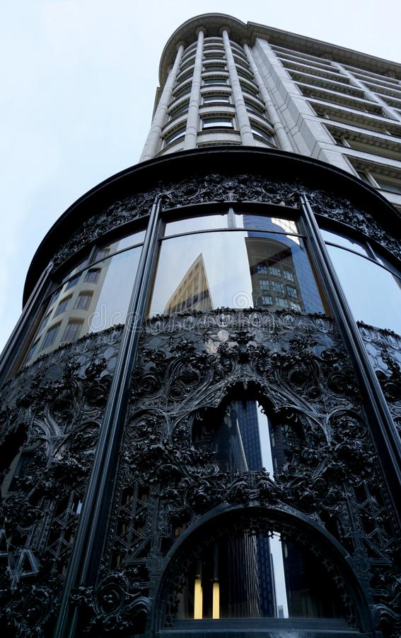 Louis Sullivan Center, a k a Carson Pirie Scott & Co sull'angolo di State Street e di Madison in Chicago immagini stock libere da diritti