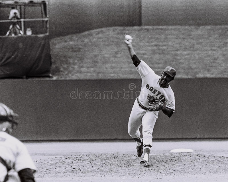 Louis Tiant, Boston Red Sox stock image