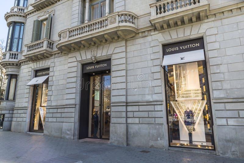 Louis Vuitton Barcelona fotografering för bildbyråer