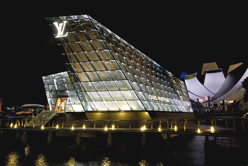 Louis Vuitton Flag Ship Store, Singapur lizenzfreies stockbild