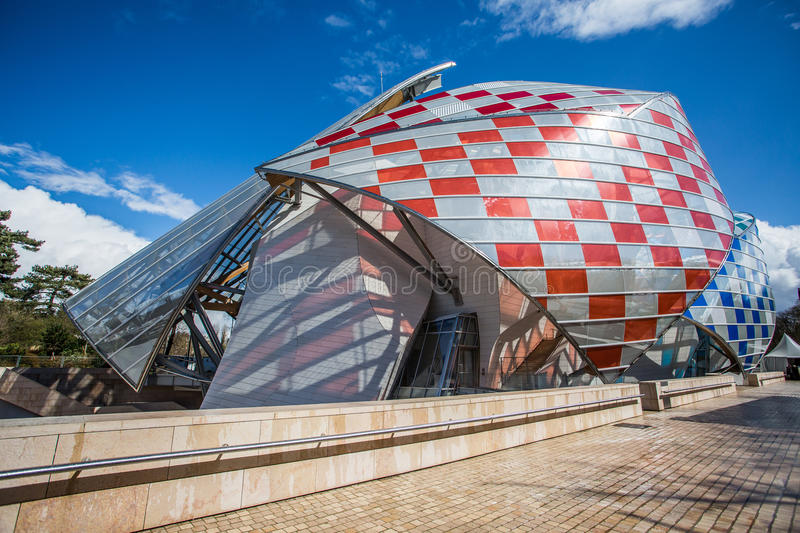 Louis Vuitton Foundation immagine stock