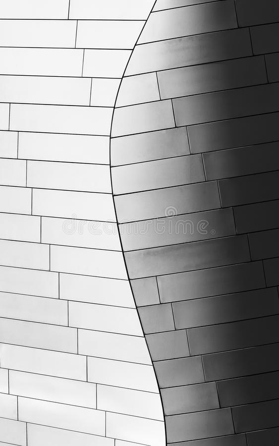 Detail of Fondation Louis Vuiton designed by architect Frank Gehry. The Louis Vuitton Foundation, designed by architect Frank Gehry, is located in Jardin d` stock photo